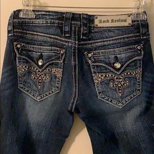 """Rock Revival """"sora"""" skinny jeans. Size 27"""